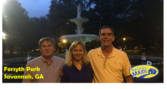 Forsyth Park with Chuck, Mike & Cynthia