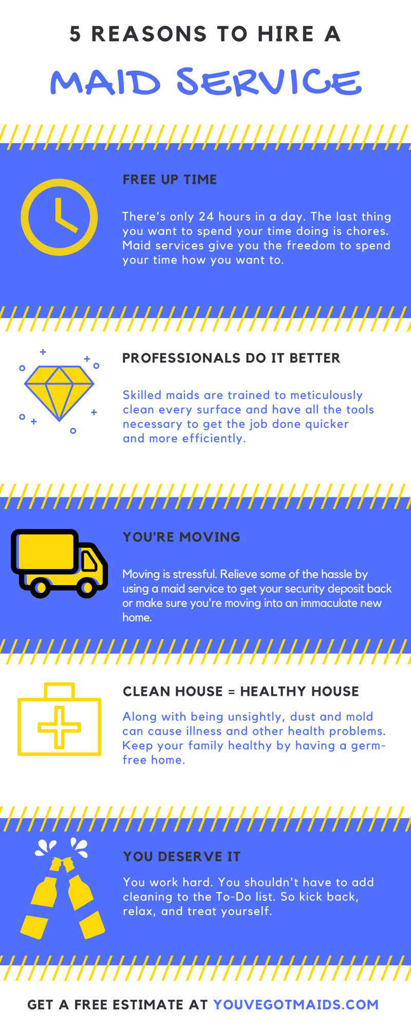 5 reasons to hire a maid service infographic