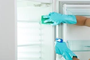 Blue Gloves Clean Fridge-2