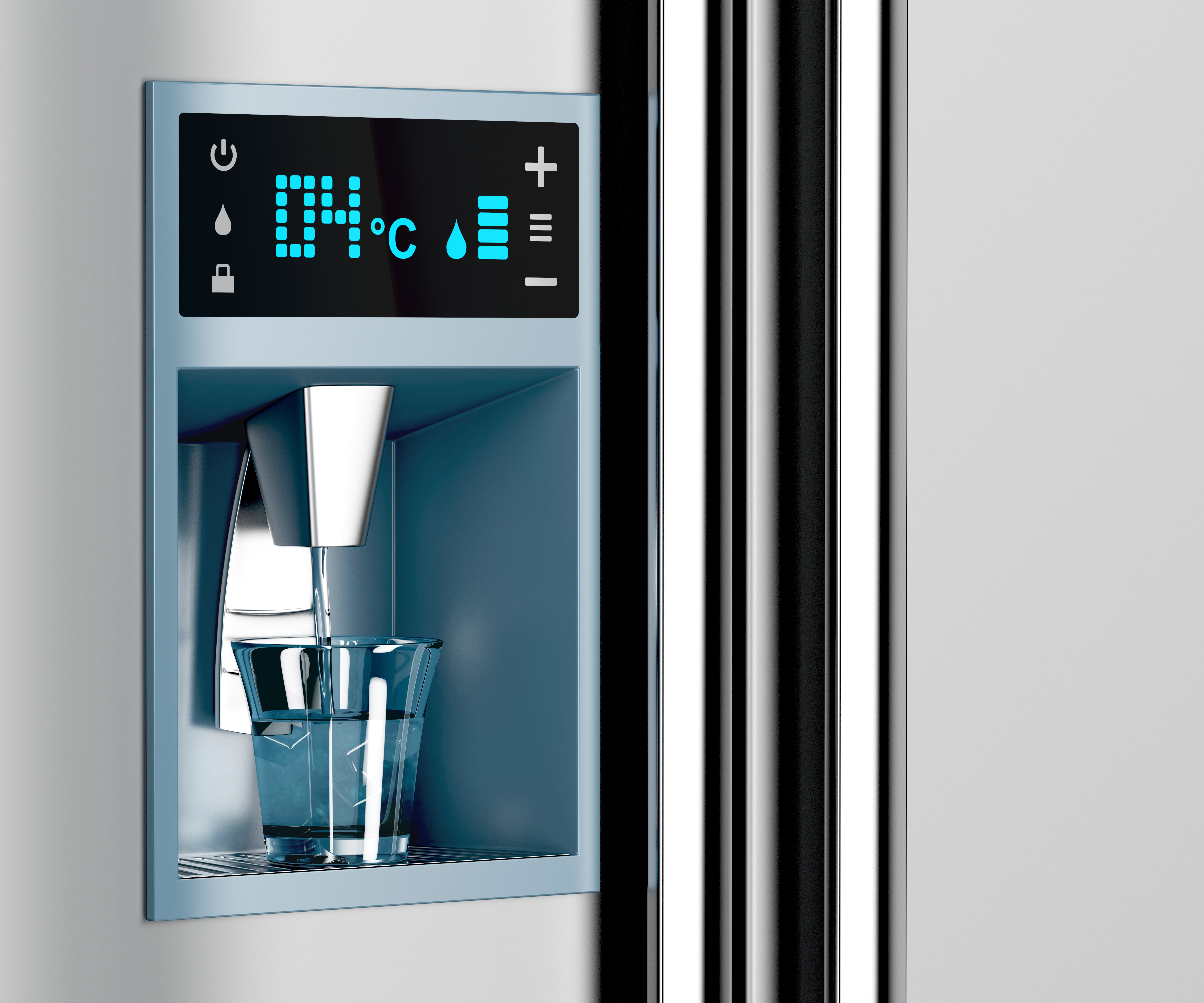 Canva - Filling Glass from Water Dispenser