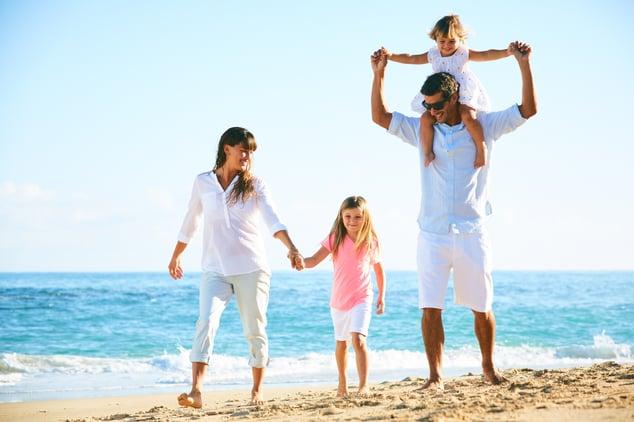 Canva - Happy Family on the Beach