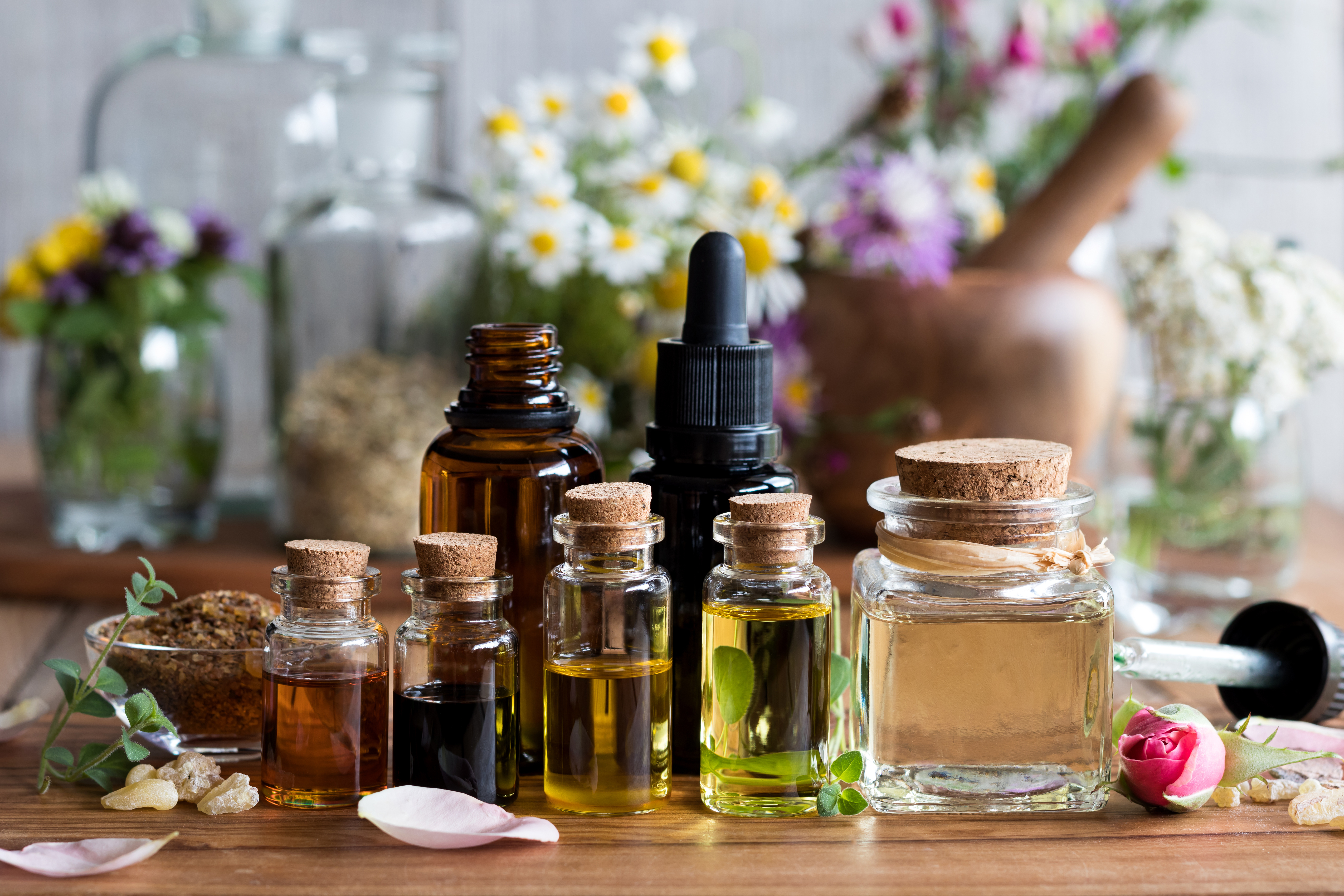 Canva - Selection of essential oils