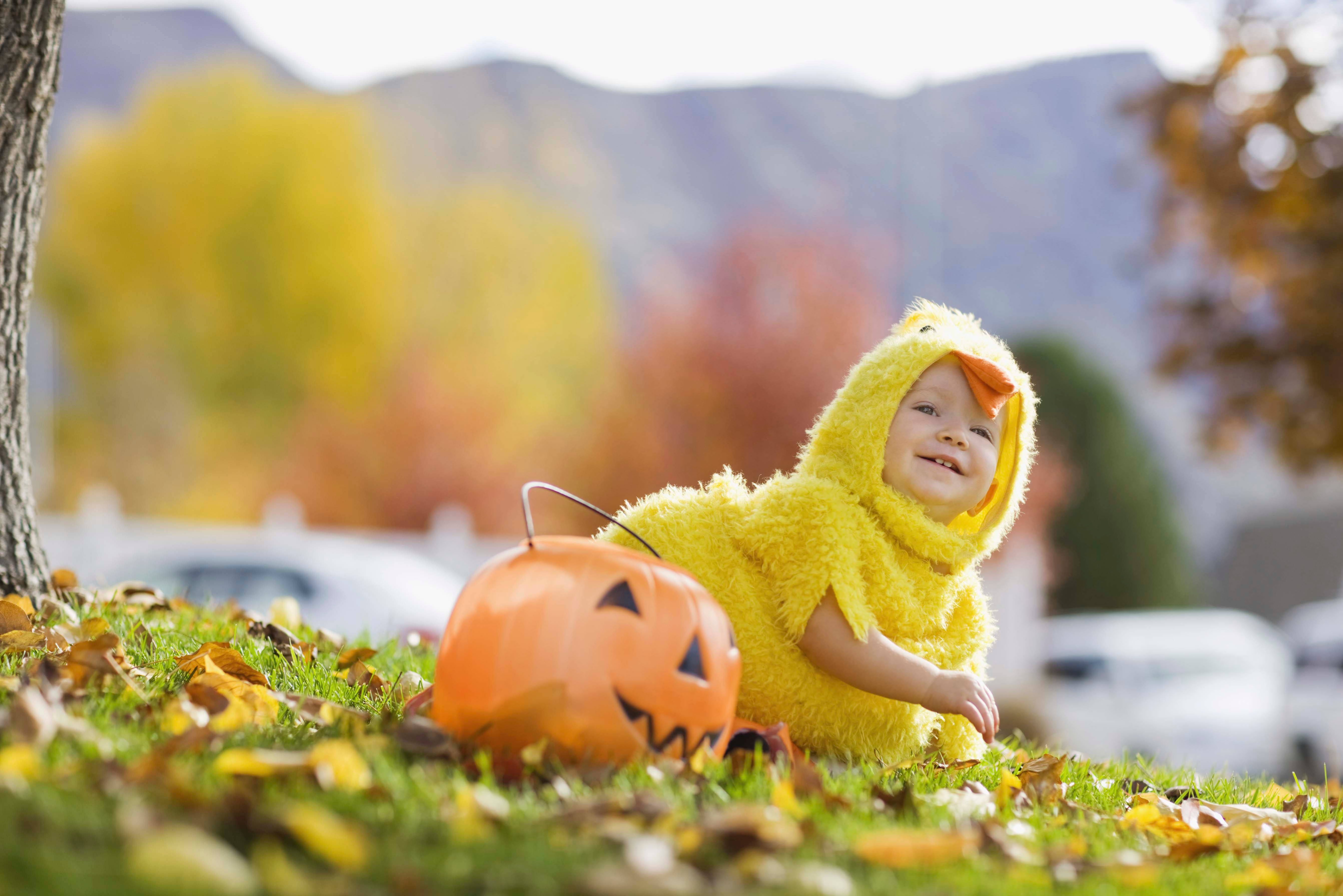 Canva - Toddler in Halloween costume