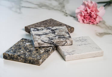 Canva - kitchen counter top samples made of granite natural stone